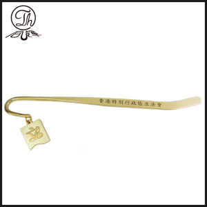 Gold name enamel bookmarks custom