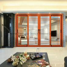 Verre trempé creux en aluminium de porte coulissante pour la pièce résidentielle (FT-D190)