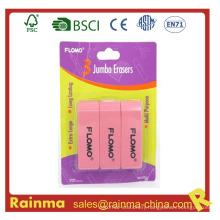 3 in 1 Set School Eraser, Plastic Rubber Eraser