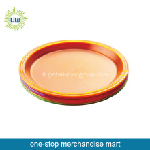 Commercio all'ingrosso colorato grande Dinner Plate
