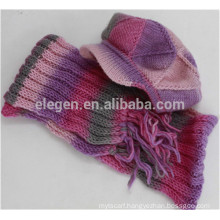 Women new design made in China Fall/Winter Knitted Marching Peaked Cap hats