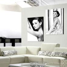 Regalos promocionales de estrellas famosas de Audrey Hepburn en lienzo o papel