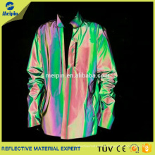 Reflective Casual Running Jacket With Reflective Spandex Fabric