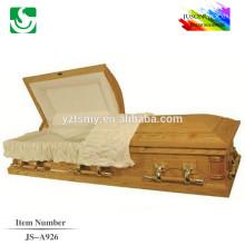 JS-A926 luxury mdf casket coffin supplier
