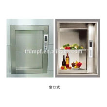 kitchen used and restaurant using food elevator dumbwaiter