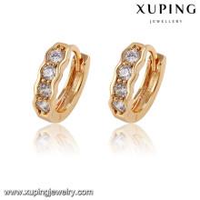 91552 Boucles d'oreilles pour dames Xuping dessins, boucles d'oreilles en or 2 gram