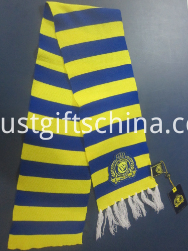 Promotional Striped Team Scarf