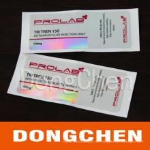 Fabricante Custom Roll E-Liquid a prueba de agua Empaquetado 10ml Vial Labels