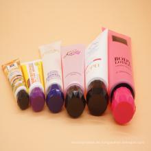 Hand Creme kosmetische Verpackungen aus Kunststoff Rohr mit Flip-Top Deckel
