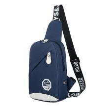 Men′s Chest Bag Canvas Shoulder Outdoor Sports Messenger Bag