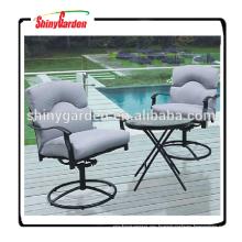 Patio aluninum jardín mesa redonda y conjunto bistro silla