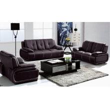 Noir en cuir, Sofa moderne, salon canapé (1002)