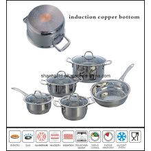 10PCS Impact Copper Bottom Saucepot and Saucepan Set