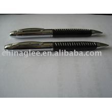 Exclusivas canetas esferográficas, canetas de couro.