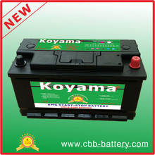 Sealed 12V AGM Start Stop Automotive Batterie Auto Batterie 88ah