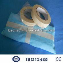 Fita de indicador químico de embalagem de papel crepom para hospital