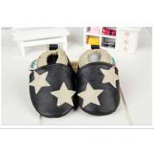 Black Star: Leather Baby Shoes