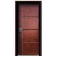 Nouvelle porte en acier intérieur en bois