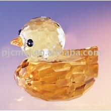 Neues Design - Schöne gelbe Kristallente für Gifts.crystal Tier 2015