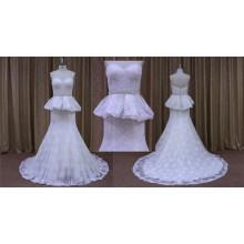 Sirena 2016 con el vestido de boda del tren del vestido de bola