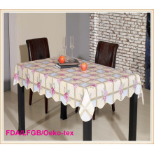 PVC Printed Tablecloth with Nonwoven backing(TJ0106)