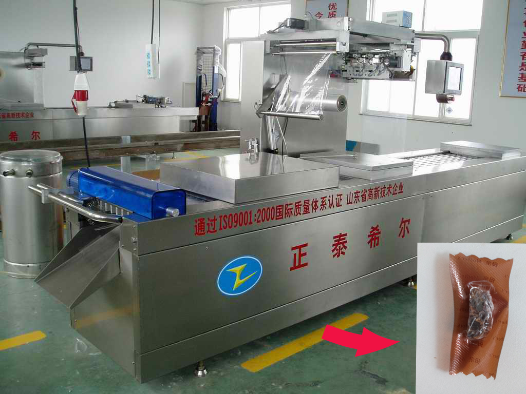 High Efficiency Stretch Film Meat Products Snack Food Vacuum Packing Machine for Small Bags