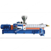 Double screw extruder for plastic