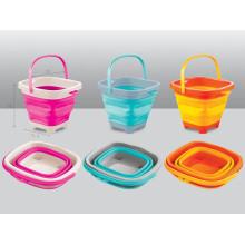 Colorido balde de 5L & 7L dobradura balde para crianças