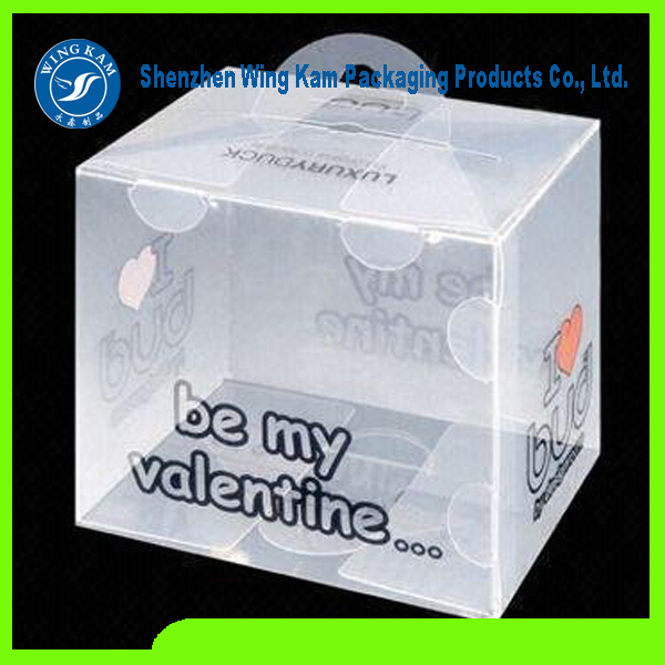 Transparent plastic Food Grade biscuite Box Packaging with lid produced by Wing Kam