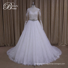 Ak035 Pretty Long Sleeve Muslim Wedding Gowns