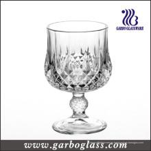 Clásico presionado grabado vaso de vino tinto cubilete (GB040207ZS)
