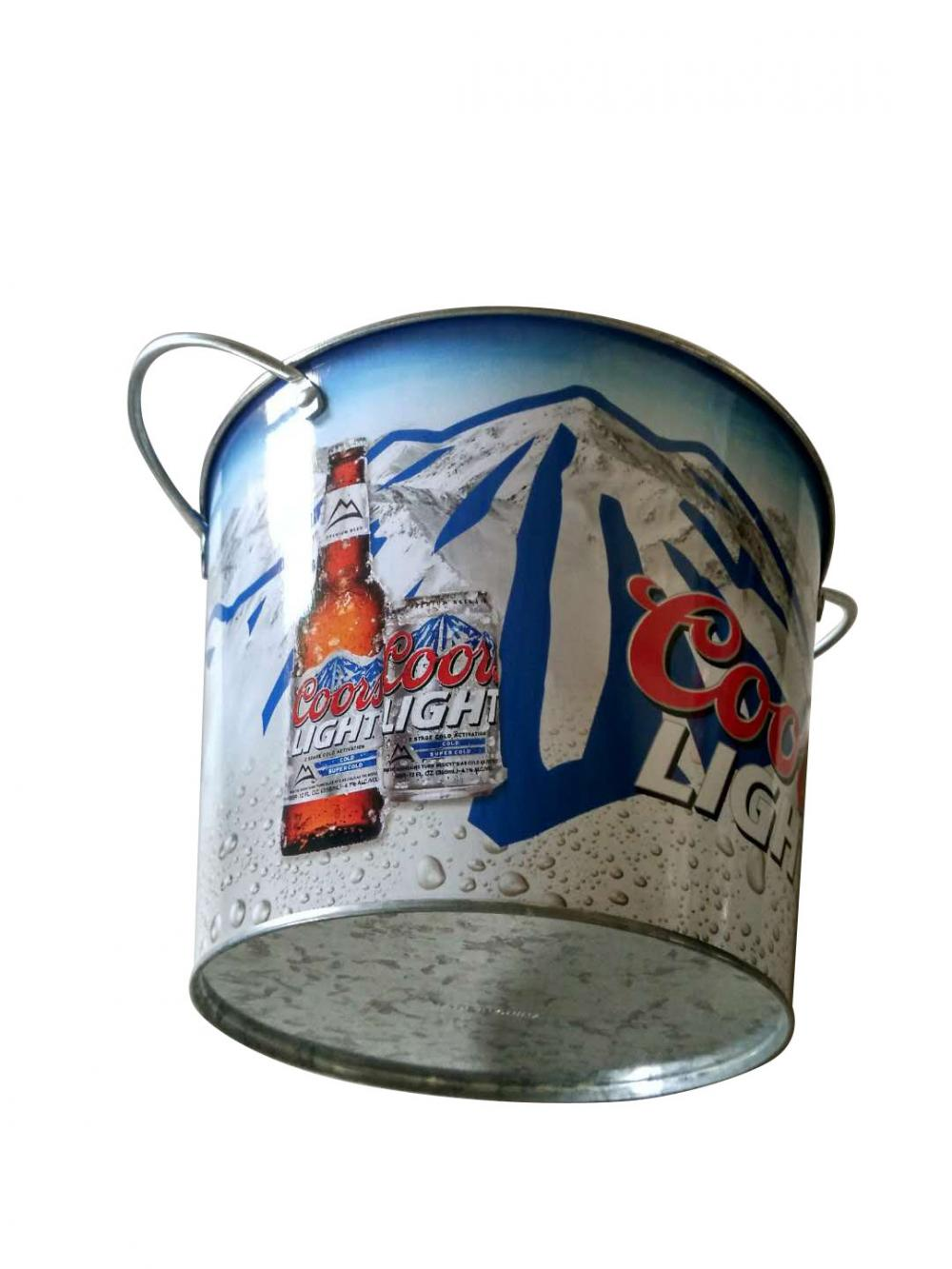 beer metal ice bucket