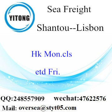 Shantou Port LCL Consolidation To Lisbon