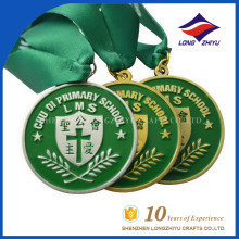 Wholesale Custom Metal Award Enamel Medal with Ribbon