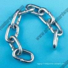 DIN766 Galvanzied soudés chaînes à maillons