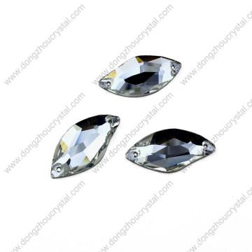 Dongzhou Flat Back Nähen auf Großhandel Flache Perlen für Bekleidung