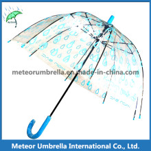 Dome Children Bubble Umbrella/Clear PVC Transparent Plastic Umbrella