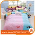 Venda quente Estilo elegante, cheio de tecido moderno de cama de impressão dispersa de microfibra