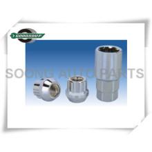 Head Card Packing Schutz Radsicherungsmuttern Chrome Guard Wheel Lock Schrauben