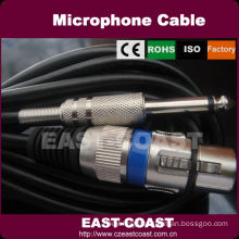 1/4'' mono to 3pin female xlr cable male to male