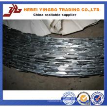 Preço mais baixo com preço reduzido Cbt-65 Galvanized Razor Barbed Wire