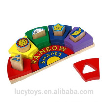 Educatioanl Toy Wooden Rainbow Shapes
