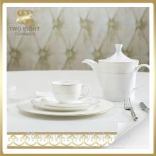 Hote sale turkish porcelain dinner set, white porcelain charger plates wholesale