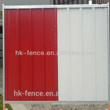 hoaring barrier city panel colorbond fence