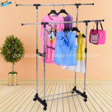 Extensible Rolling Folding Clothes Hanger Shoe Rack