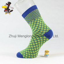Lady Fashion Classic Diamond Pattern Cotton Socks Very Popular in The Market