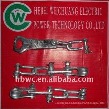 línea de transmisión-horquilla de acero galvanizado