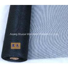 Tela de tela de insetos de fibra de vidro cinza preta