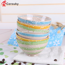 Restaurant home use reusable microwave safe ceramic gift bowl