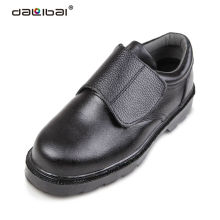 anti slip food industry black iron steel toe safety shoes